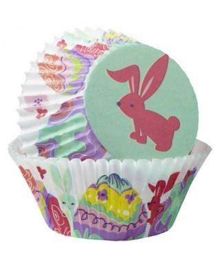 Caissettes Cupcake Pâques Peek Bunny pk/75 Wilton