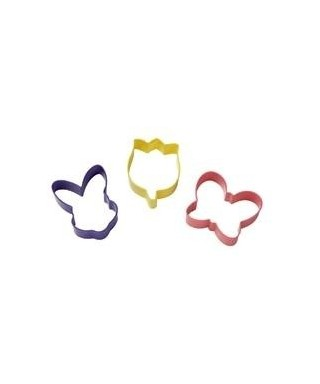 Emporte-pièce métal lapin, papillon et fleur Wilton