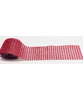 Bande de strass Rouge 4,5 cm de haut