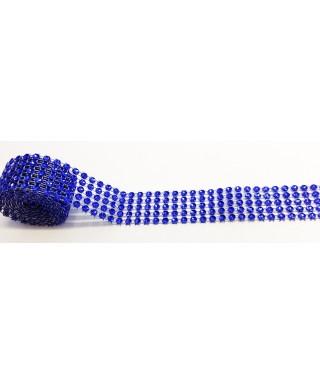 Bande de strass Bleu 2,5 cm de haut