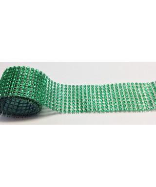 Bande de strass Vert 4,5 cm de haut