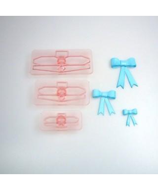 Découpoirs noeuds assortis taille 1 à 3 set/3 JEM