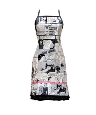 Fifi tablier-Home Sewing B&W Cherry Pie Couture
