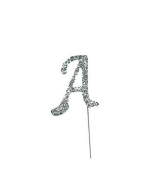 Lettre A en diamant et Strass pour gâteaux