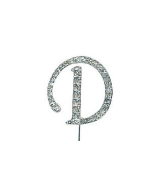Lettre D en Diamant et Strass
