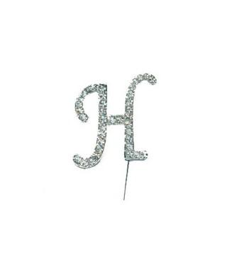 Lettre H en Diamant et Strass pour gâteaux