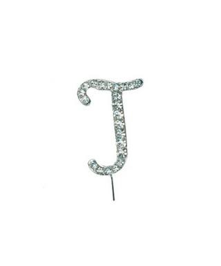 Lettre J en Diamant et Strass pour gâteaux