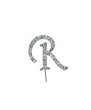 Lettre R en Diamant et Strass pour gâteaux