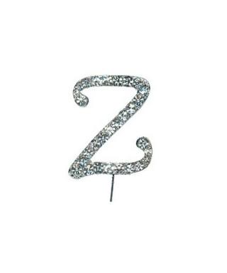Lettre Z en Diamant et Strass pour gâteaux