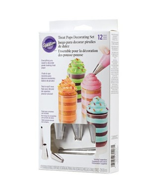 Ensemble de décoration Treat Pops set/12 Wilton