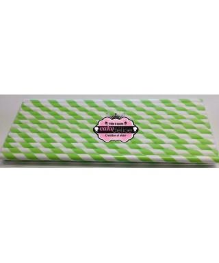 Bâtonnets à cake pop Blancs rayures Vert pastel