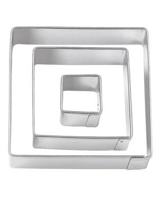 Emporte-pièce métal carrée set /3 Wilton