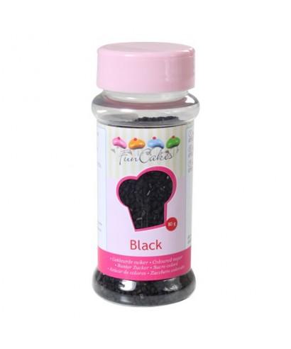 FunCakes Sucre coloré noir 80g