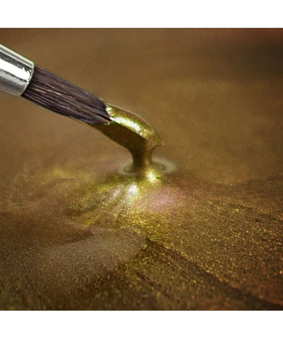 Peinture métallique OR Clair 25ml Rainbow Dust