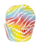 Caissettes cupcake Zèbrures Multicolores x 75 Wilton