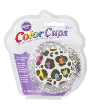Caissette ColorCups Léopard Brillant pk/36 Wilton
