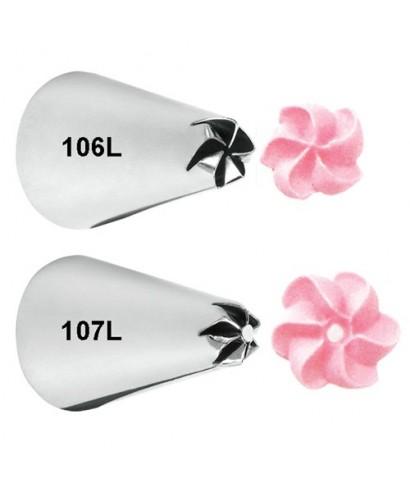 Douille de décoration de gauchère set - Fleur 106/107 Wilton
