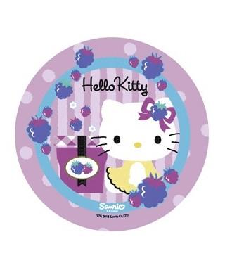 Disque pâte à sucre Hello Kitty et son cadeau
