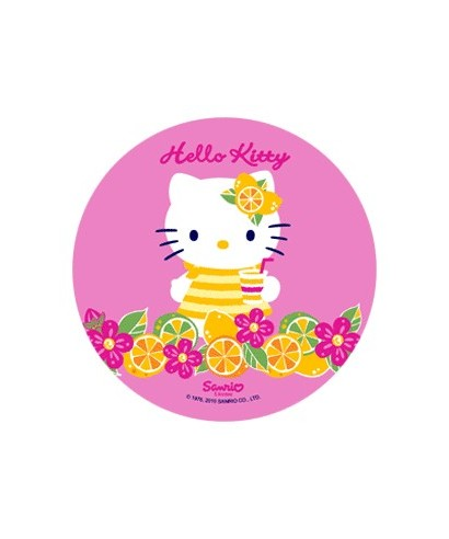 Disque Azyme Hello Kitty fond rose