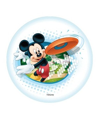 Mini Disque Azyme Mickey fait du frisbee