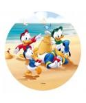 Disque azyme Riri, Fifi, Loulou et Donald à la plage