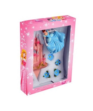 Figurine en sucre Cendrillon 3D et son décor Disney