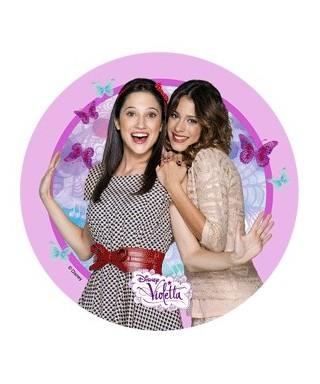 Disque pâte à Sucre Violetta et sa copine Disney