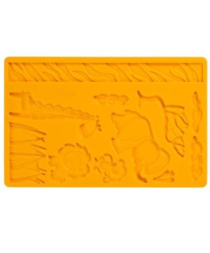 Moule silicone à Pâte à Sucre & Gumpaste Animaux de la jungle Wilton