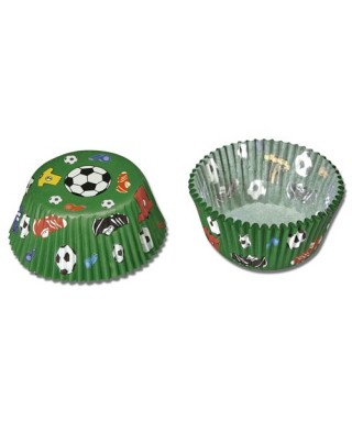 Caissettes Cupcake Football set/50 Städter