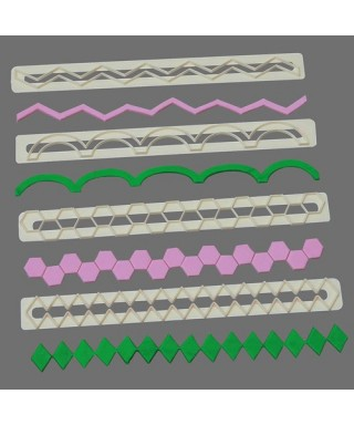 Découpoir de bordure Straight Frill 17 - 20 FMM Sugarcraft