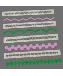 Découpoir de bordure Straight Frill 17 - 20 FMM Sugarcraft