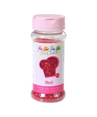 Sucre coloré Rouge 80g FunCakes