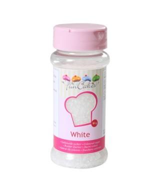 Sucre coloré Blanc 80g FunCakes