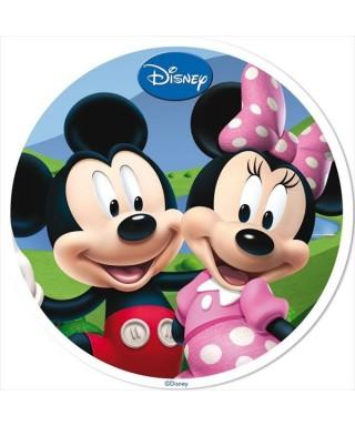 Disque azyme Mickey et Minnie au parc Disney