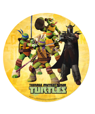 Disque en azyme Tortue Ninja fond orange