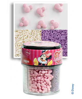 Assortiment confettis en sucre Minnie Disney