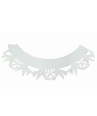 Caissette wrap cupcake colombe blanche dentelée PME