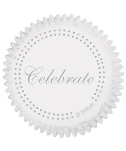 Caissettes Cupcake Celebrate Silver set/75 Wilton