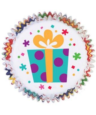 Caissettes Cupcake Party Time set/75 Wilton