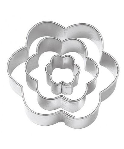 Emporte-pièce métal Fleurs set /3 Wilton