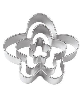 Emporte-pièce métal Fleurs drôle set /3 Wilton