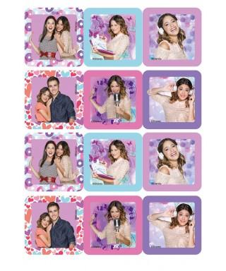 Carré pâte à Sucre Violetta set/12 Disney