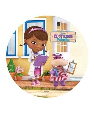 Disque pâte à sucre Docteur la peluche et Hallie Disney