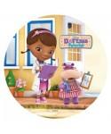 Disque pâte à sucre Dottie et Hallie Docteur la peluche Disney