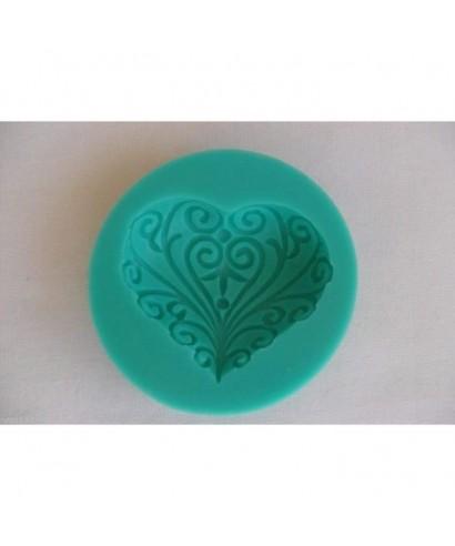 Moule silicone coeur arabesque