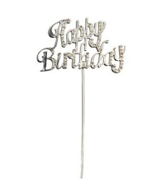 Happy Birthday en strass pour gâteaux