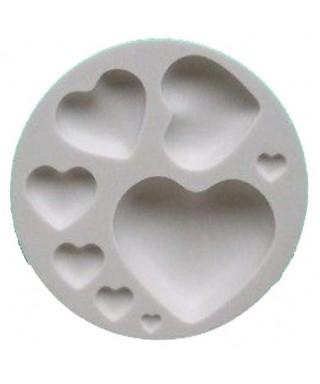 Moule silicone petit et gros Coeur