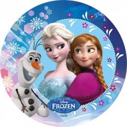 Disque Azyme La Reine des Neiges, Elsa, Anna et Olaf Disney