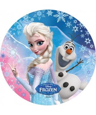 Disque Azyme La Reine des Neiges, Elsa et Olaf Disney