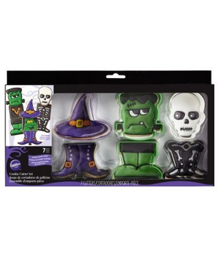 Emporte-Pièces pour Biscuit Halloween Monstre Set/7 Wilton